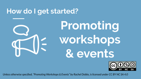 Promoting workshops & events banner image