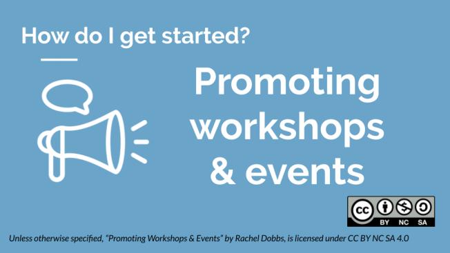 Promoting workshops & events banner image
