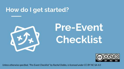Pre-event checklist banner image