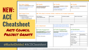ACE Project Grants application cheatsheet