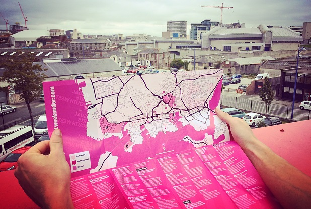 Plymouth Art Weekender map. Photo Credit: Sarah Waddington / Plymouth Herald