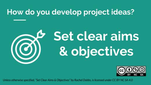 Fundraising Setting Clear Aims & Objectives - Rachel Dobbs - CC BY NC SA