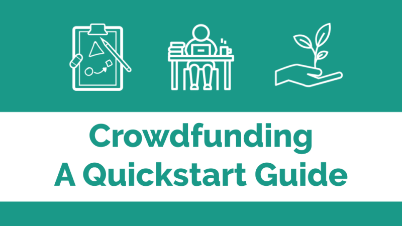 Crowdfunding quickstart guide banner image