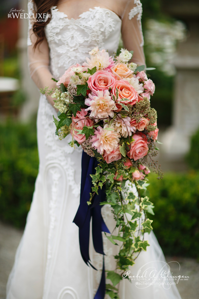 Botanical Gardens Navy and Peach Wedding  Rachel A