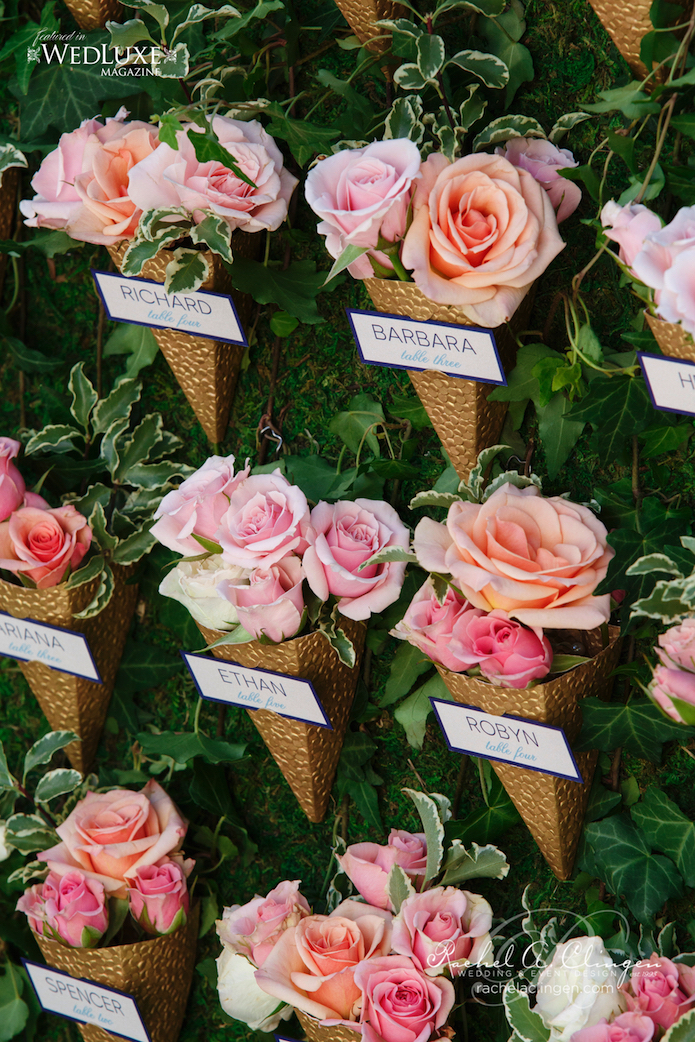 Botanical Gardens Navy and Peach Wedding  Rachel A