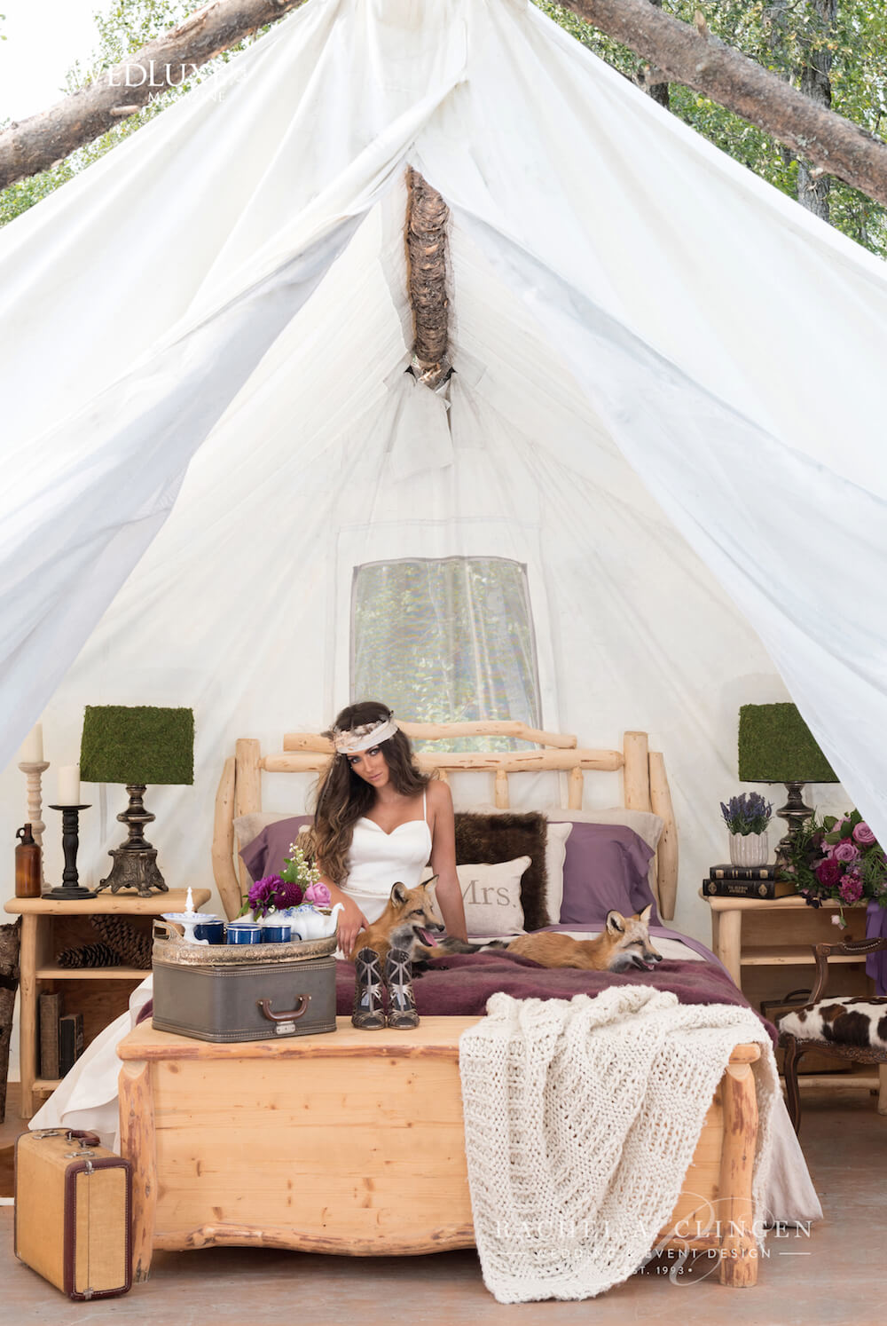 Rustic Glamping Wedding Inspiration  Rachel A Clingen