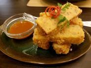 Deep fried tofu kinabalu