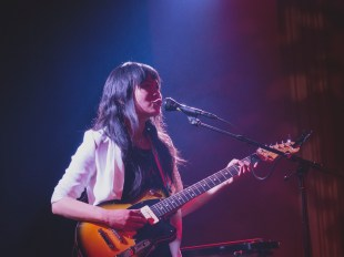 Thao (of Thao & The Get Down Stay Down) performed a solo show at The Chapel in San Francisco, CA. 3/15/2017. Photos by Jonathan Aburquez.