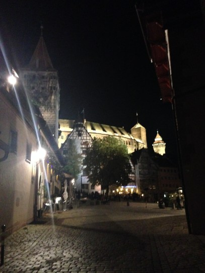 View of the castle at night
