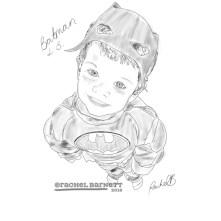 Batman Sketch © Rachel Barnett 2016