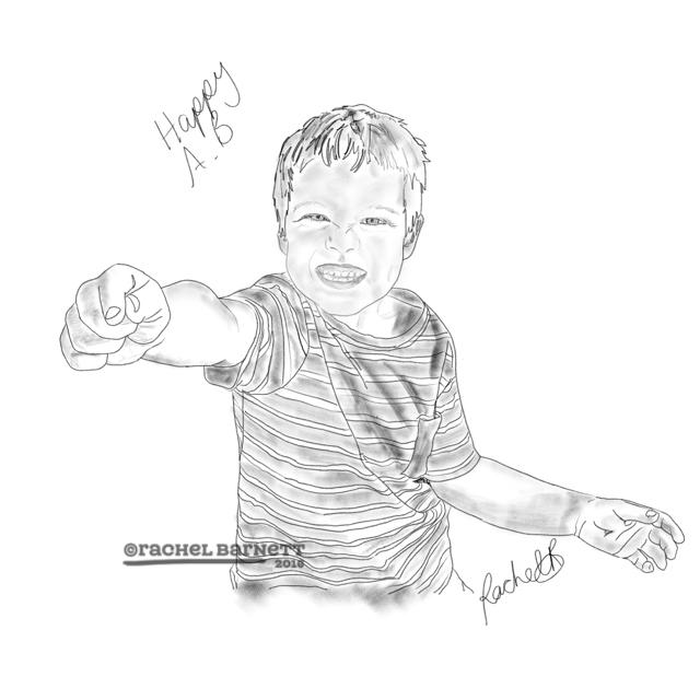 Happy! Sketch © Rachel Barnett 2016