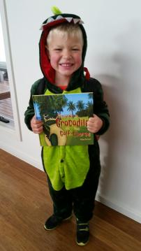 There's a Crocodile on the Golf Course by Rachel Barnett. Book Week Costume 2017
