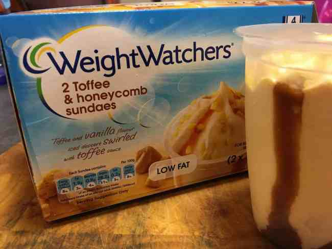 Weight Watchers Toffee and Honeycomb Sundaes