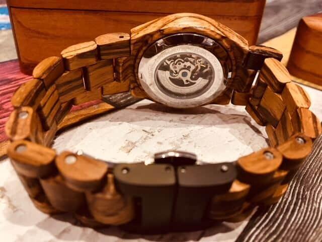 The Cora Series Wood Watch from JORD - Internal workings
