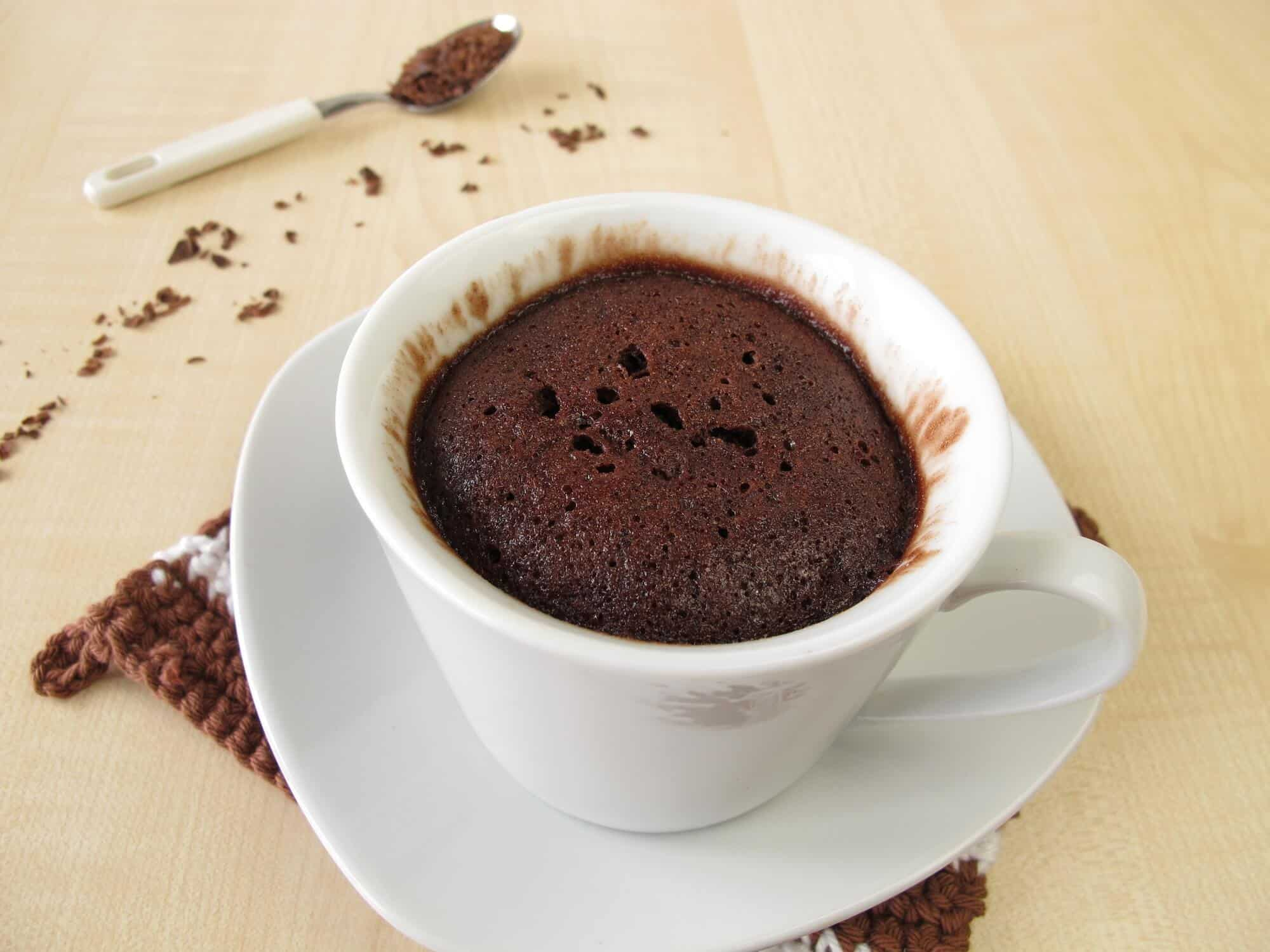 Microwave Chocolate Cake Recipe ~ Rachel Bustin