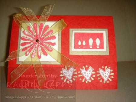 Real Red and Gold wedding card
