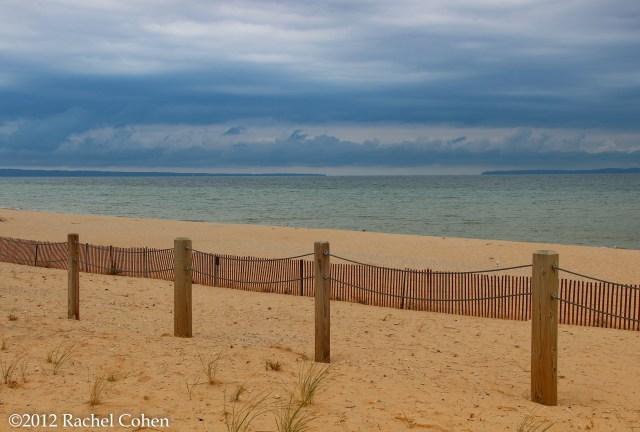 A stormy day on Lake Michigan at Sleeping Bear  Dunes National Lake Shore.