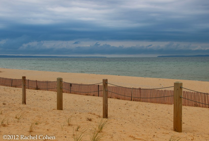 A stormy day on Lake Michigan at Sleeping Bear  Dunes National Lake Shore.