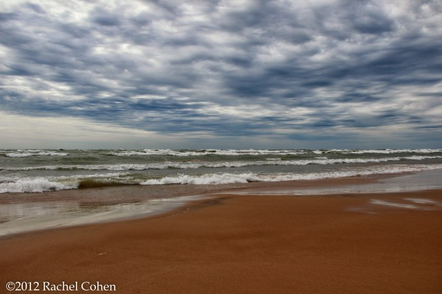 A stormy windy day on Lake Michigan in the Upper Peninsula.