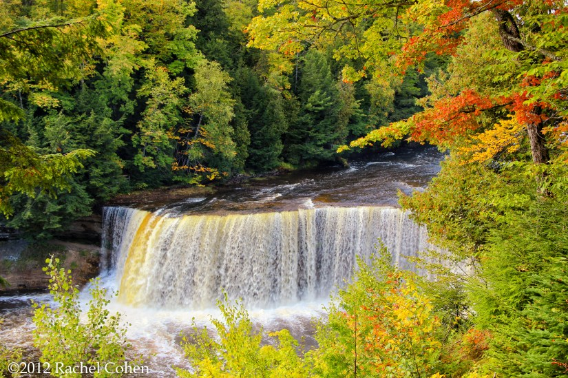 Upper Tahquamenon Falls in early autumn. In Michigan's Upper Peninsula.