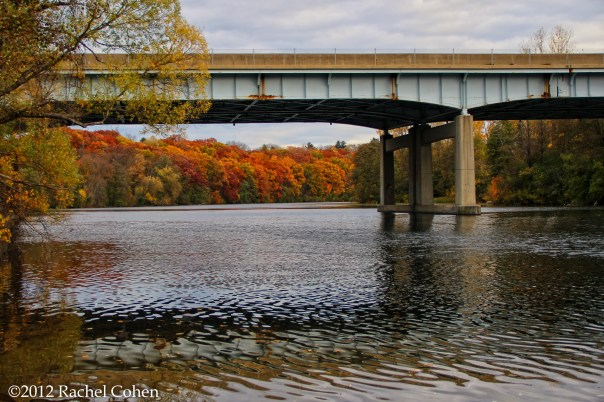 Bridge across the Huron River during autumn!