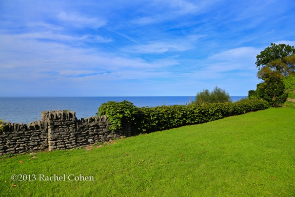 """Olcott Park Vista""  Another view of Olcott Park and its historic stone walls as you gaze out onto Lake Ontario."