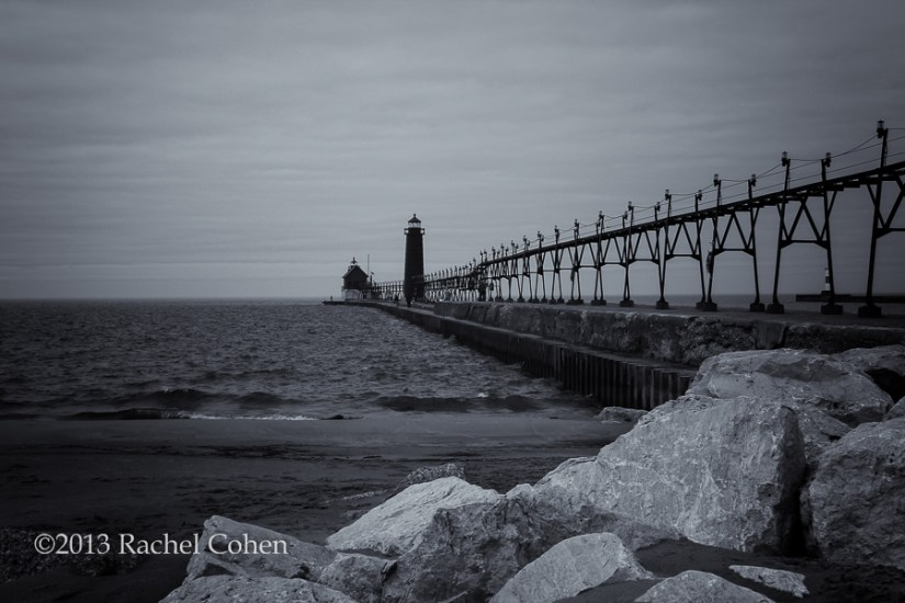 """Grand Haven Lighthouse""  Monochrome"