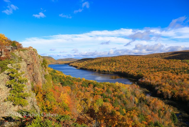 """sunshine on Lake of the Clouds"" Almost totally clear at ""Lake of the Clouds"" on a bright fall afternoon!"