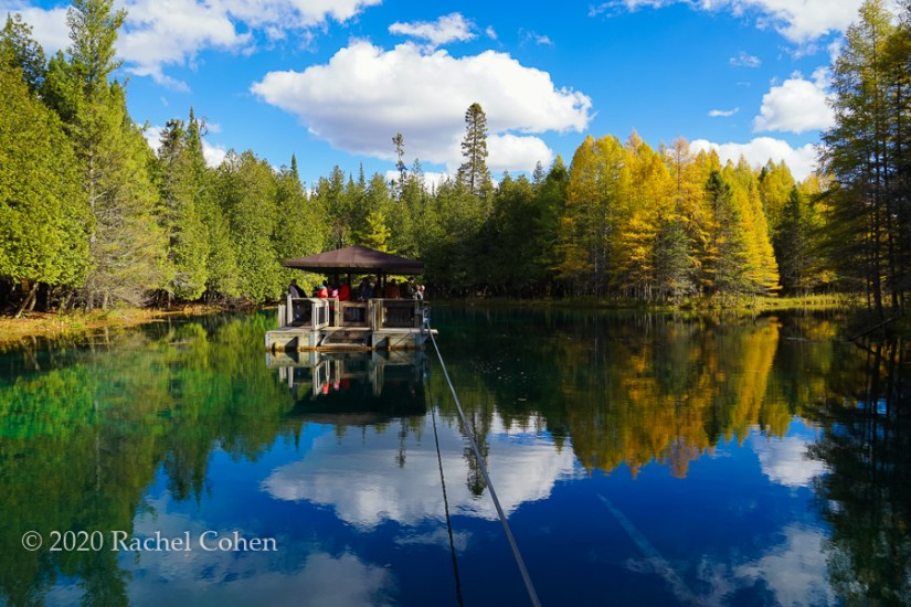 """Kitch-iti-kipi Autumn""  Beautiful reflections of trees and clouds at Kitch-iti-kipi during autumn!"