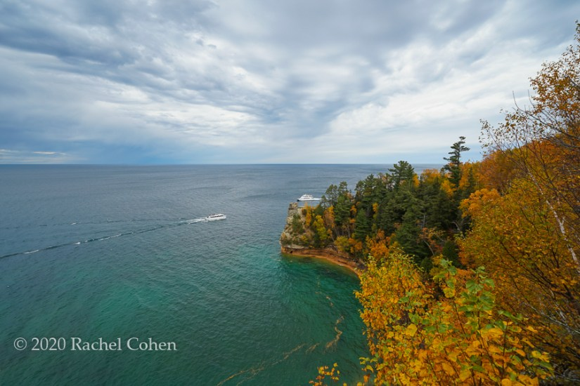 """Miners Castle Autumn Colors"" 2  Beautiful colors of Lake superior, the stormy sky and fall color at Miners Castle!"