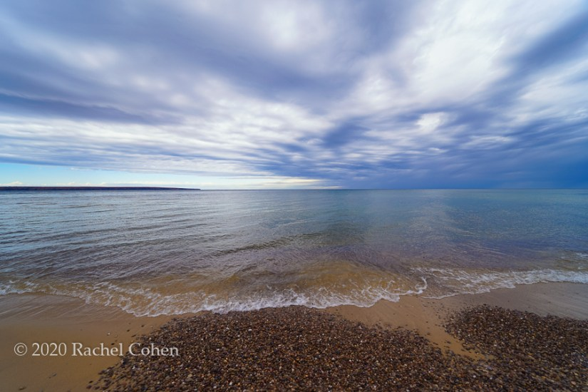 """Stones of Miners Beach""  Dramatic skies and beautiful calm water at Miners Beach!"