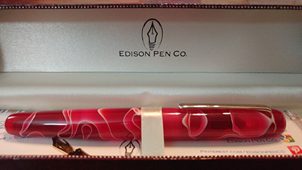 Photo of my new Edison pen in its display box