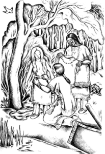 Illustration from Indian Captive by Lois Lenski
