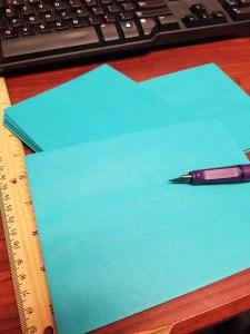 Addressing envelopes with a Lamy Safari Dark Lilac