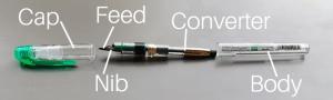 Open fountain pen