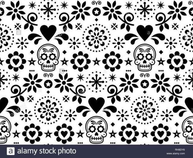dia de muertos pattern found through Google.