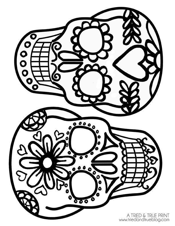 dia de muertos sugar skull image found through Google.