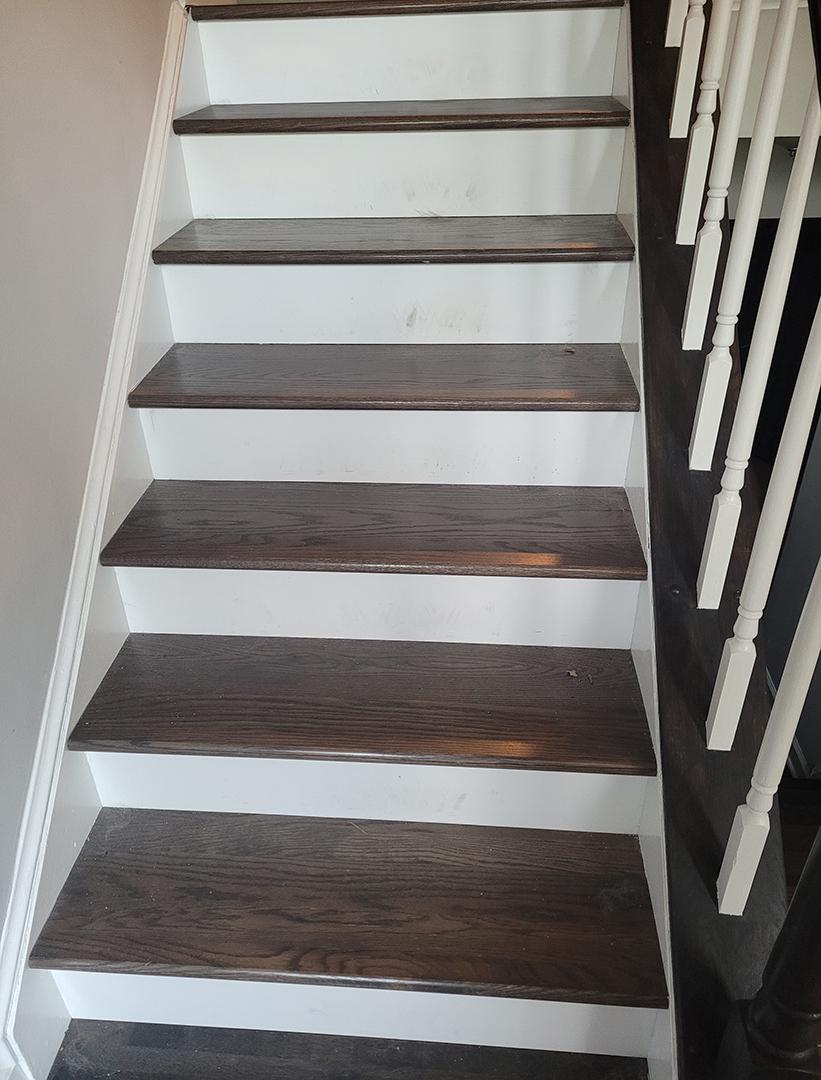 Upper Stairs Unpainted