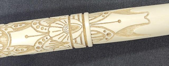 Iron Feather Creative Art Deco Nibs center of pen