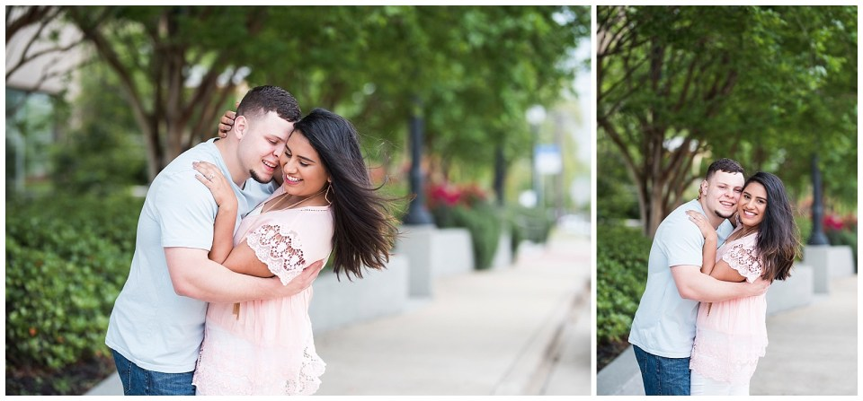 Meghan & Devin's Downtown Bryan TX Engagement Session, Rachel Driskell Photography