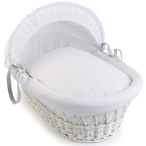 Clair de Lune White Waffle Wicker Moses Basket from Babies R Us £49.99
