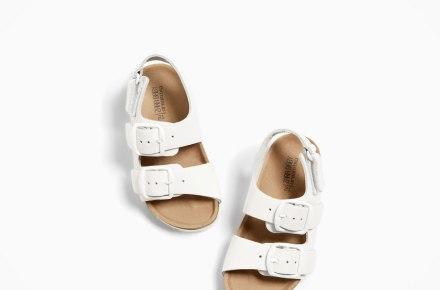 Zara Buckled Leather Sandals