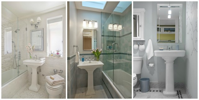 Small Bathroom Redo Inspiration Obsessed With Pedestal Sinks