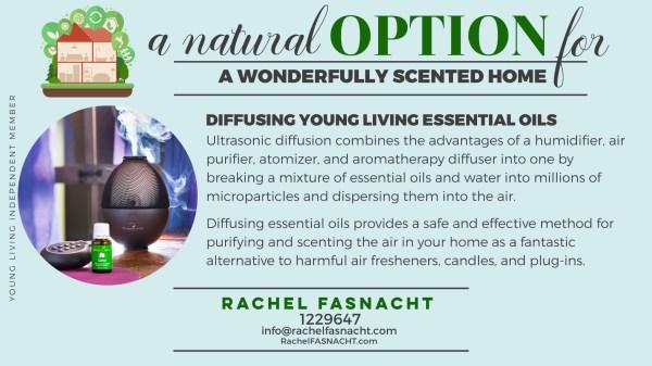 Diffusing essential oils