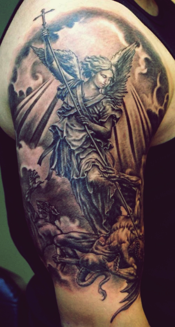 Guardian Angel Tattoos : guardian, angel, tattoos, Beautiful, Guardian, Angel, Tattoo, Designs