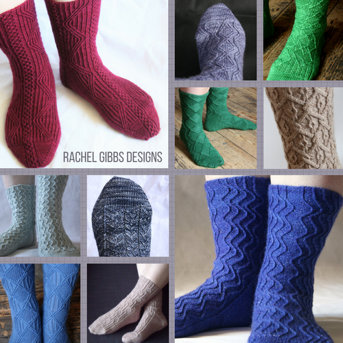 All my sock patterns are eligible for the sale