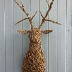 Willow Stag Head Bust