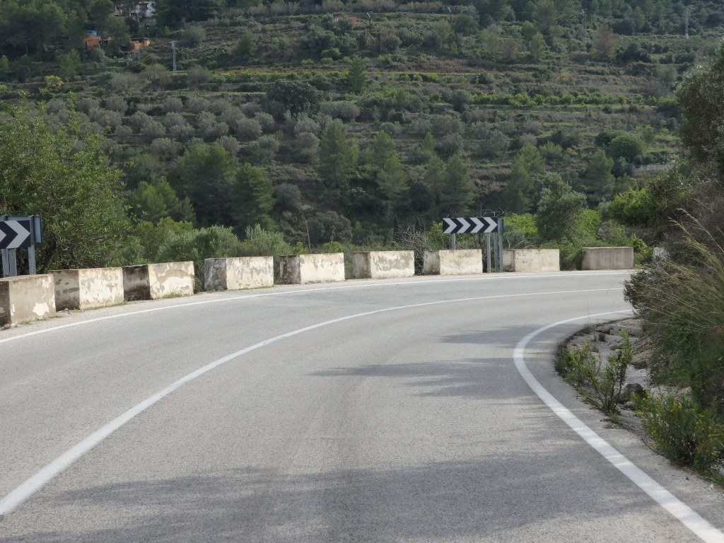 a view of a winding road near Parcent, Spain