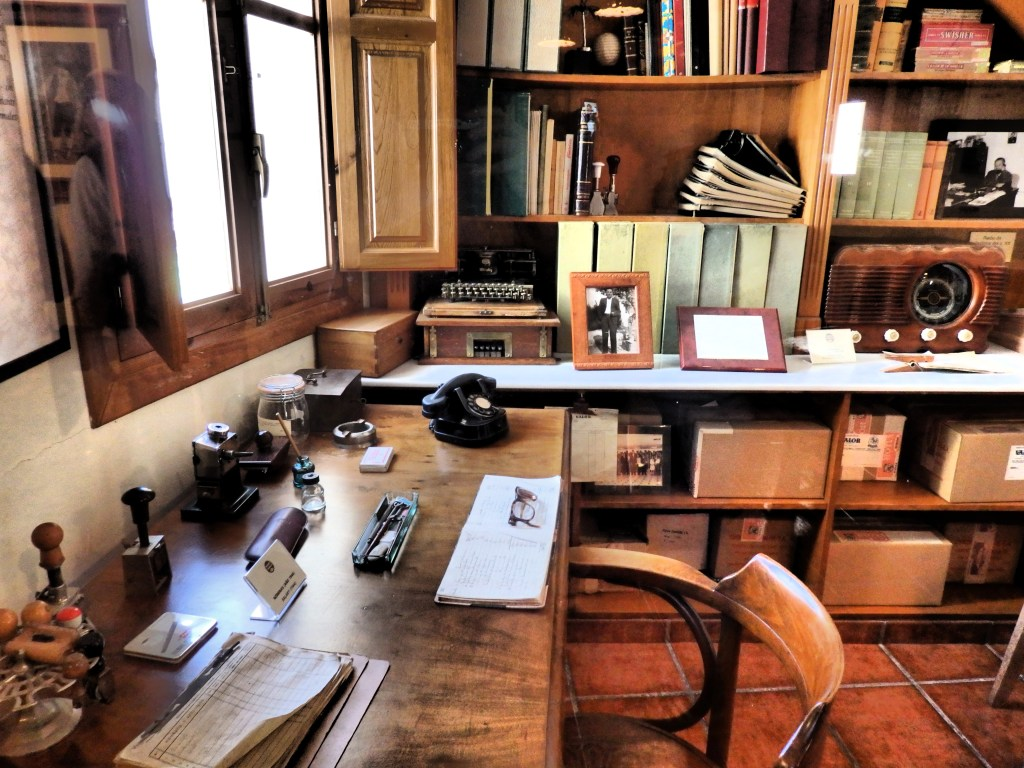 The factory's original office as displayed in the chocolate museum at the Valor factory.