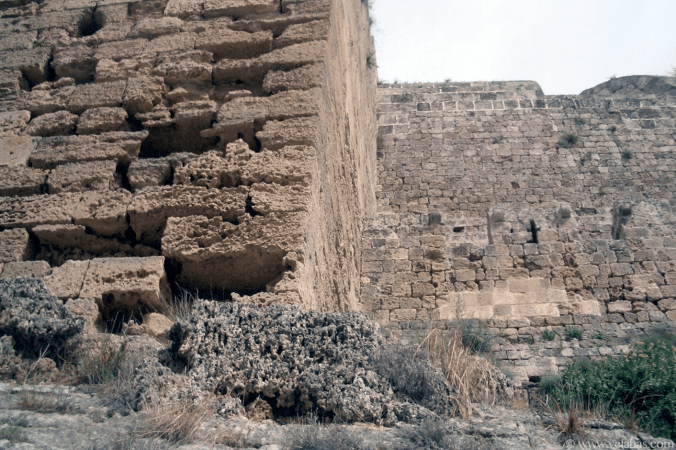 stone walls in Rhodes, where the Colossus of Rhodes stood